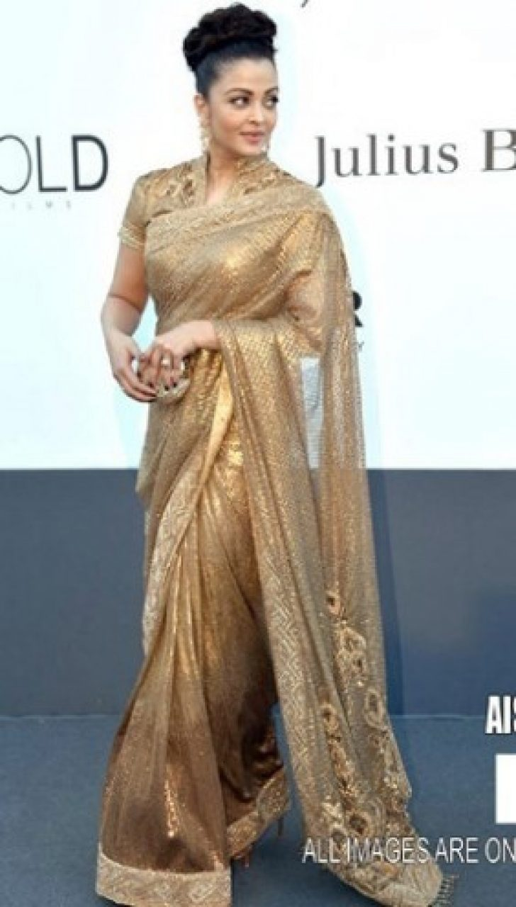 Permalink to Golden Saree Bollywood