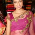 Seductive bollywood actresses in transparent saree ..