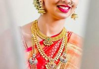 South Indian bride. Gold Temple jewelry. Jhumkis ..