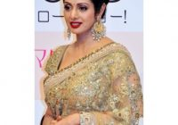 Sridevi Golden Saree By Bollywood Replica available at ..
