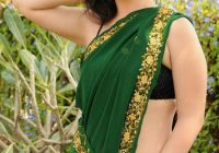 Telugu Actress Kriya Stills in Green Saree – tollywood heroines in sarees