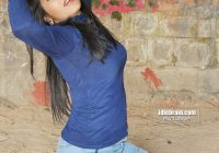 Telugu Actress Mithra in a shortest jeans skirt exposing ..