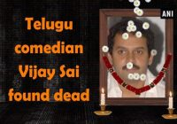 Telugu comedian Vijay Sai found dead [Video] – tollywood comedian vijay