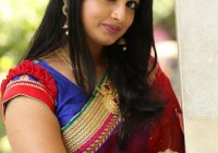 Telugu Tv Actress Mounica Hot Photos In Red Saree ..
