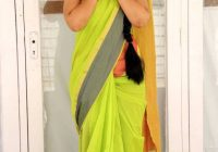 Telugu Tv Actress Sujitha Photos In Yellow Saree ..
