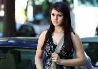 Tollywood actress Hansika Motwani sleeveless simple look ..