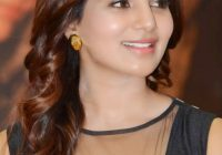 Tollywood Actress Samantha Spicy Stills In A Pressmeet ..