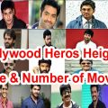 Tollywood heroes height, age & number of movies – YouTube – tollywood industry