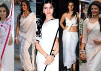 Tollywood Heroines in White Saree Photos – photos of tollywood heroines in saree