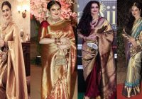 Top 25 Bollywood Actress Rekha Kanjeevaram Saree Designs ..