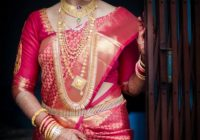 Traditional Southern Indian bride wearing bridal hair ..