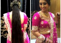 Traditional Southern Indian bride wearing bridal lehenga ..